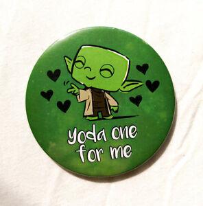 Yoda One For Me Pin Badge - 38/58/77mm - Starwars Star Wars Jedi Chewbacca Solo