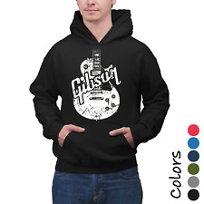 Hoodie Distressed Distressed Gibson Guitar Adult Graphic Gift Idea Funny Novelty