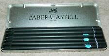 6 Schwarze Faber Castell Bleistifte in Blechbox