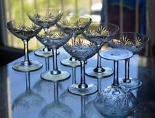 ANCIENNES 6 COUPES A CHAMPAGNE cristal taillé modèle Massenet LORRAINE
