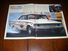 1963 1/2 FORD GALAXIE LIGHTWEIGHT FACTORY RACE CAR  ***ORIGINAL 1997 ARTICLE***