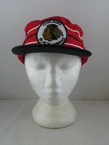 Chicago Blackhawks Pillbox Hat (VTG) - Kyrstal Cap One Sizer - Adult One Size