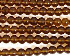 200 Topaz Crystal Glass 6mm Round Round Beads