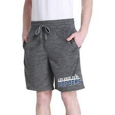 Men's Charcoal Los Angeles Dodgers Chip Fleece Jam Shorts
