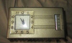 Vintage, Retro Honeywell Thermostat, W/Clock & Thermometer Deco Style