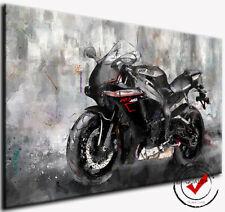 Yamaha YZF-R1 Motorrad Bild Bilder Leinwand Wandbild Superbike Kunstdruck Deko