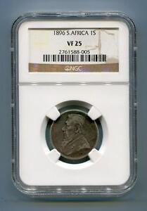 South Africa ZAR NGC Graded 1896 Kruger 1 Shilling VF 25 Coin