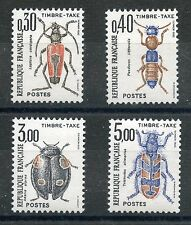 STAMP / TIMBRE DE FRANCE TAXE SERIE N° 109/112 ** INSECTES / COLEOPTERES