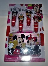 Disney Minnie Mouse 5 Piece Lip Gloss Set with Included Collectible 3D Tin