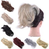 "12"" Women's DIY Hair Ponytail Metal Comb Short Soft Clip in Synthetic Hair Bun"