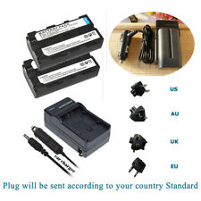 TWO(2) Battery +Charger for Sony NP-F550 YONGNUO YN360 YN600 YN900 YN300 Series
