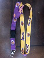 Los Angeles Lakers Lanyard Detachable Clip New Nba Basketball Kobe Lebron Key ID