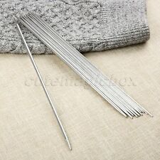 44pcs 25cm Stainless Double Pointed Knitting Needles 1.5mm-5mm Silver 11 Sizes