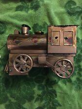"Music Box/Copper Folk Art - Train Engine - ""I've Been Working On The Railroad�"