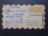 US 1935 Lancaster Airport Dedication Cover - Z7404