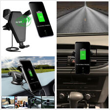 Car Wireless Fast Charger Plastc Black Air Vent Holder Mount Gravity Linkage 10W