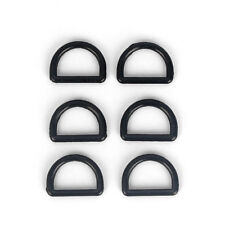 "50pcs 1"" Black Plastic Dee Rings For Webbing Strapping D Rings 25mm"