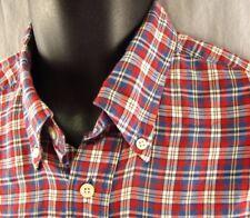 Nautica Plaid Dress Shirt L Tartan Large Long Sleeves Button Front Check Gingham