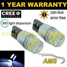 2x W5w T10 501 Canbus Error Free Blanco Smd Led matrícula bombillas np103301