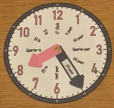 TEACHING CLOCK Learn To Tell the Time - (Pink & Purple)