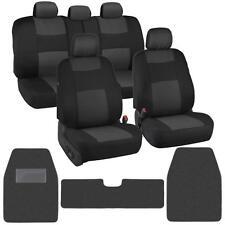 Auto Interior Protection Car Seat Covers Carpet Floor Mats Black Charcoal Cloth