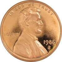 1986 S Lincoln Memorial Cent Choice Proof Penny 1c Coin Collectible