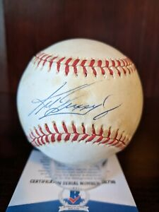 Ken Griffey Jr Signed Autographed OML Baseball Beckett BAS Cert Reds HOF Auto