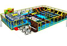6,000 sqft Turnkey Trampoline Park Dodgeball Rock Wall Ninja Gym We Finance 100%