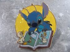 DISNEY STITCH WITH DUCKLINGS PIN READING THE UGLY DUCKLING BOOK LE 500 HTF