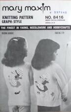 Mary Maxim Graph Knitting Pattern No 8416 BERRY PATCH Childs Cardigan Sz 2-4-6