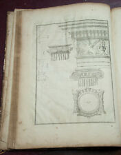 Antique Book on Architecture with 30 pages of fine engravings.