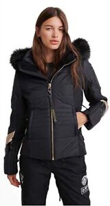 SUPERDRY Ski Fit Women's Jacket, Black, UK14 (Large), BNWT, RRP £249