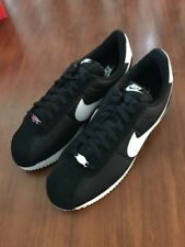 Nike Cortez Baisc Nylon Shoes 819720 011 New Black Trainers Size 12