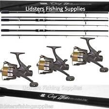 3 x 12ft Lineaeffe Carp Hunter Fishing Rods 2pc 2.75lb 3 EG40 Fishing Reels