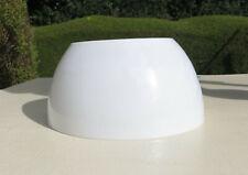 "Milk Glass Half Dome Lamp / Light Shade 18.4cm / 7 1/4"""