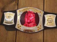 WWE Champion Gold Wrestling Belt Mattel 2010 Lights Music John Cena RAW MonNite