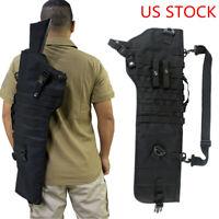 29In Tactical Shotgun Rifle Scabbard Holster Holder Molle Sling Gun Case Black
