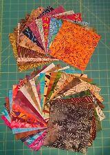 "42 x 5"" square Beautiful Batiks Fabric Charm Pack - Set 2 - 100% cotton"