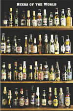 DRINKING POSTER Beers of the World Shelf 24x36