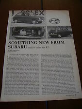 1970 SUBARU R2 ***ORIGINAL ARTICLE***