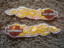 New Harley Davidson Flames Logo Mini Tank Decal Set Outside Application Clear