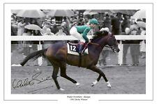 WALTER SWINBURN SHERGAR 1981 DERBY SIGNED PHOTO PRINT