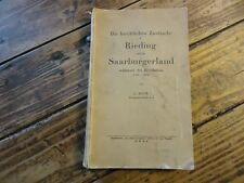 LORRAINE - RIEDING SAARBURGERLAND REVOUTION - L.BOUR - 1933