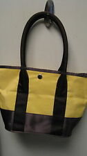 Yellow brown  spring handbag medium ladies womens purse Nylon pocket book