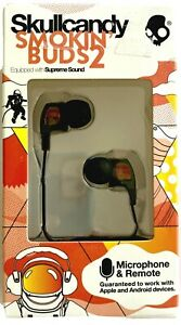 Skullcandy Smokin Buds 2 with Microphone & Remote #S2PGHV-392-Spaced Out Iridium