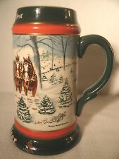 1991 BUDWEISER HOLIDAY BEER STEIN  NICE LOOKING, WELL MADE STEIN / MUG