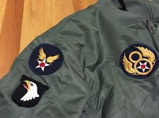 MA-1 USAF Air Force Military Flight Deck Style Bomber W/Patch Reversible Jacket.
