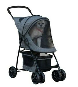 Pet Gear Happy Trails Pet Stroller for Cats Dogs Easy Fold with Removable Liner