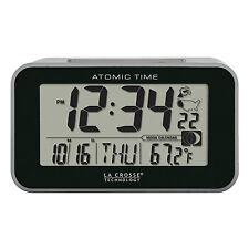 617-1270 La Crosse Technology Atomic Digital Alarm Clock with Blue Led Backlight