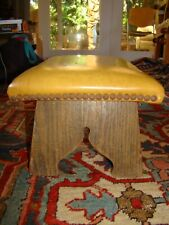 Antique Oak Arts Crafts Foot Stool, Ottoman, Foot Rest